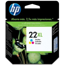 Cartuchos Hewlett Packard 22XL Color Alto Rendimiento