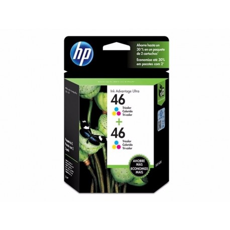 Cartucho Hewlett Packard 46 Color Dual