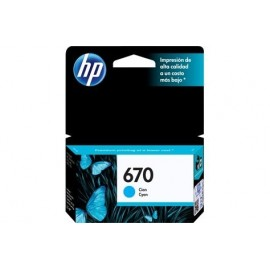 Cartuchos Hewlett Packard 670 Cyan
