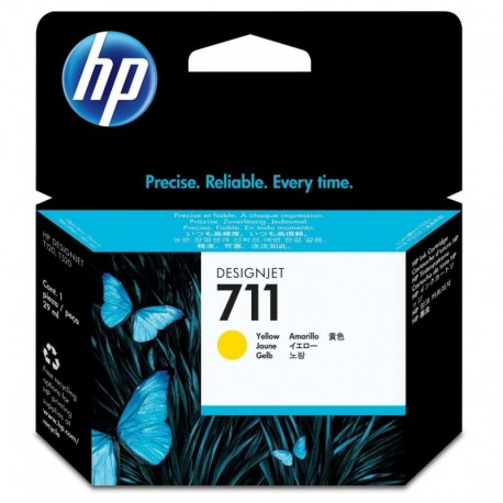 Cartuchos Hewlett Packard 711 Yellow